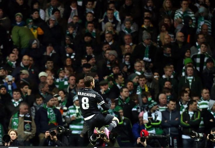 Gol di Marchisio al Celtic Park