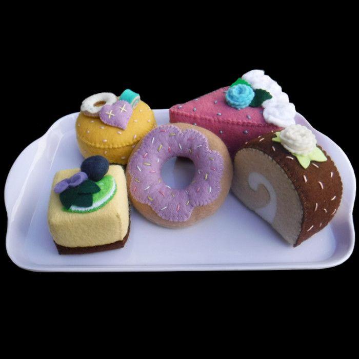 Felt donut and cakes