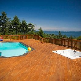 Pool With Deck Design Ideas, Pictures, Remodel, and Decor