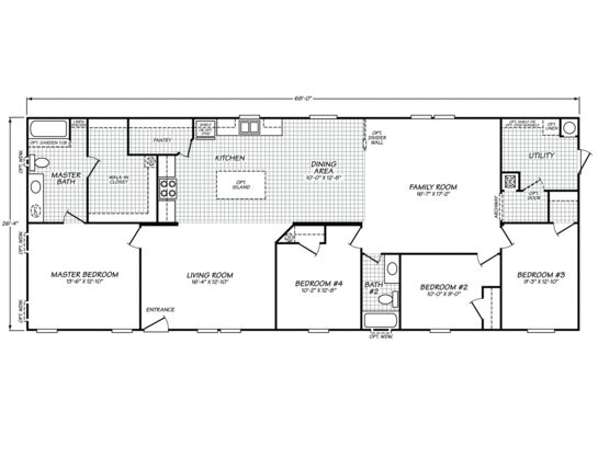 Westfield classic 28684s fleetwood homes home plans for Fleetwood homes floor plans