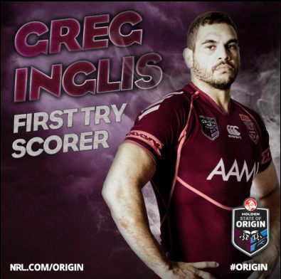 Will Greg Inglis be the first to score in tonights epic State of Origin decider ?
