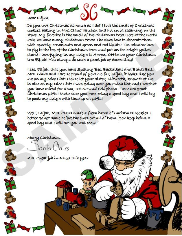 Best Letters From Santa Images On   Santa Letter