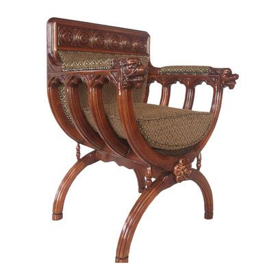 Design Toscano San Lorenzo Renaissance Cross Frame Arm Chair