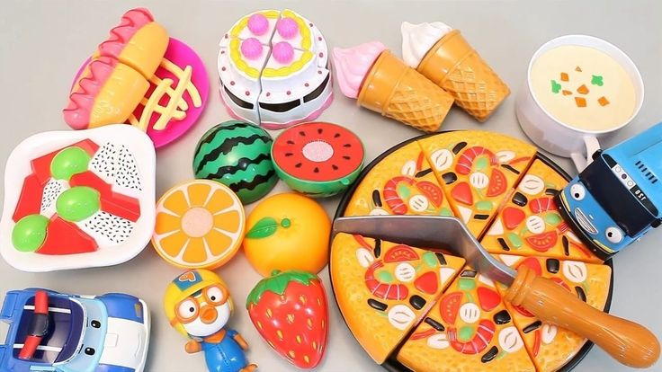 Learn name With  Velcro Cutting Cake Pizza Ice Cream Play Doh Toy Surprise Learn Fruits English http://youtu.be/U_cdQzsoMYI