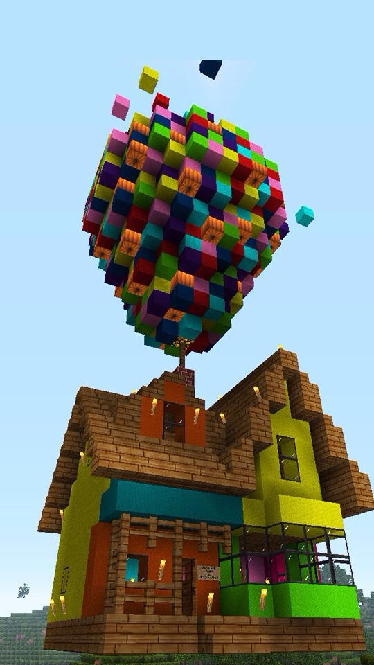 AWESOME MINECRAFT VERSION OF THE HOUSE FROM UP!!!!!!!!!!!!!!!!!!!!