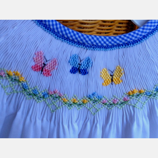 Bailey's Butterflies by Creative Keepsakes=love the floral border and gingham bias neckline