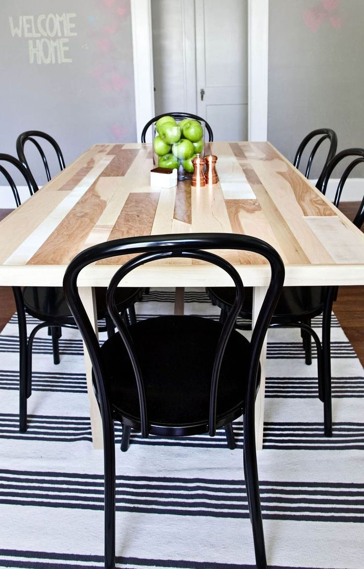 DIY Six Seat Dining Room Table
