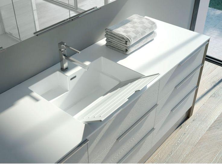 Lavabo integrato; collezione lavanderia Spazio Time #arredo #arredobagno #interiors #laundry #bagno