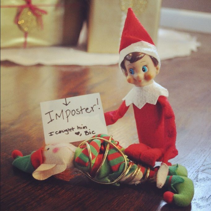 Elf on the Shelf caught the Imposter....