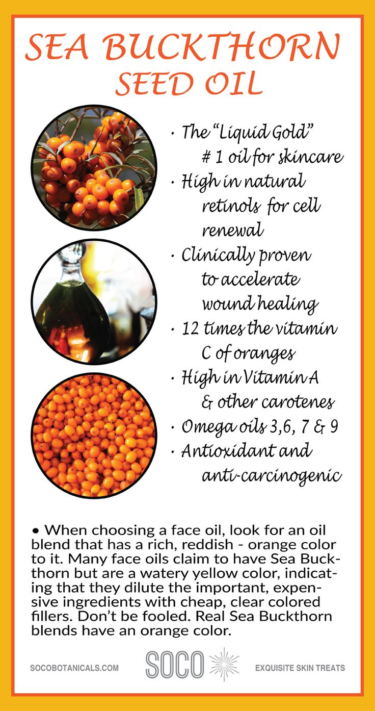SEA BUCKTHORN OIL BLEND: Skincare ingredient for SOCO Symphony Anti Aging Elixir. Effective for all skin types, even the most highly damaged & aging skin. This powerful serum contains clinically proven anti aging organic ingredients including CoQ10, Sea Buckthorn, Pomegranate Seed Oil, Red Raspberry Seed Oil, Jojoba Oil, Chamomile and Neroli essential oils.