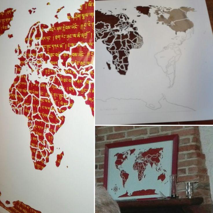 Les 25 meilleures id es concernant tableau carte du monde for Tableau carte du monde ikea