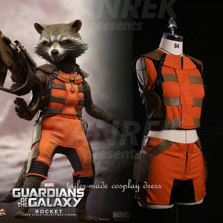 Guardians of the Galaxy Cosplay Rocket Raccoon Costumes