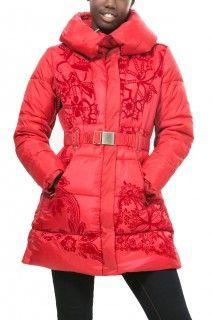 Desigual červený zimní kabát Rocio