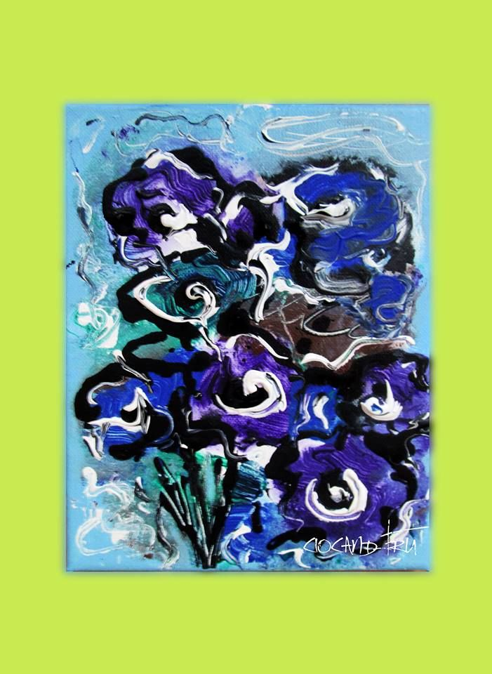 FLOWERS Mod de realizare: acril pe panza Dimensiune : 24 X18 cm Lucrare disponibila dumitruciocan@yahoo.com