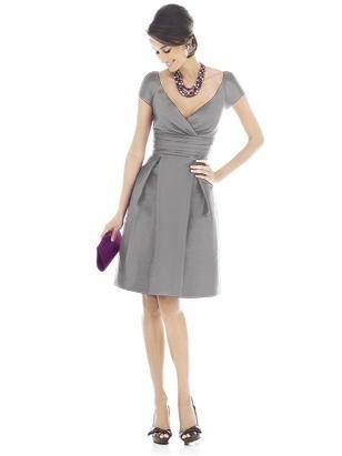 Grey bridesmaid dress...not tea length but.pretty