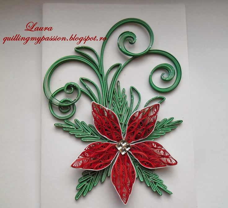 1000+ Images About Quilling: Christmas Poinsettias On