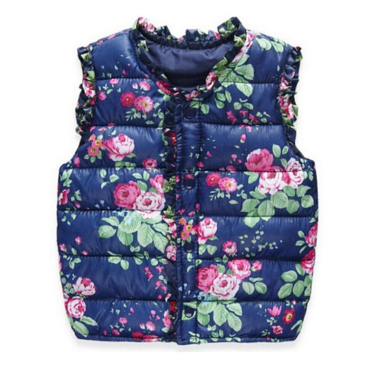Winter Children's Jackets Kids Girls Vest Sweet Floral Down Cotton Warm Waistcoat Children Clothing N6456 #>=#>=#>=#>=#> Click on the pin to check out discount price, color, size, shipping, etc. Save and like it!