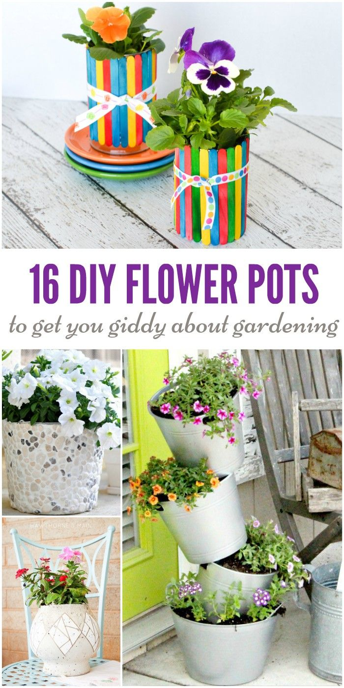 """Feel like your flowers or houseplants are looking a little """"blah""""? Jazz them up with some fabulous DIY flower pots and planters. You're sure to get inspired with the gorgeous options that we've found!"""