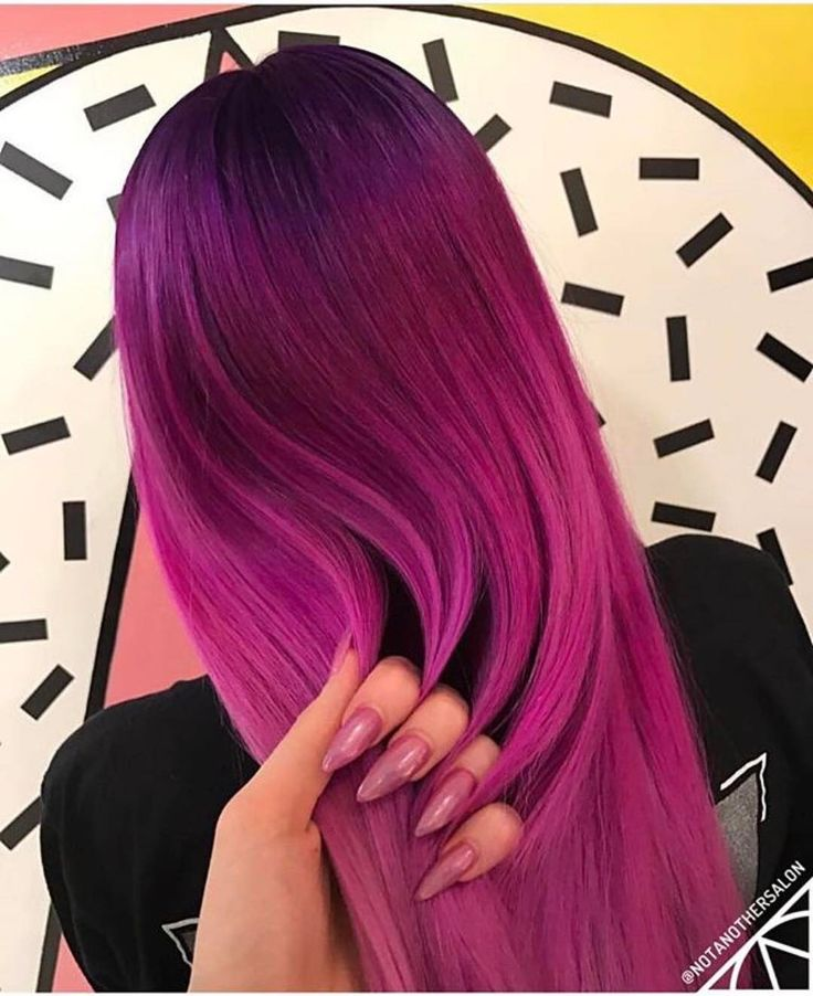 @notanothersalon always wows us with their creations! What do you think of this vibrant shade? #hairgoals