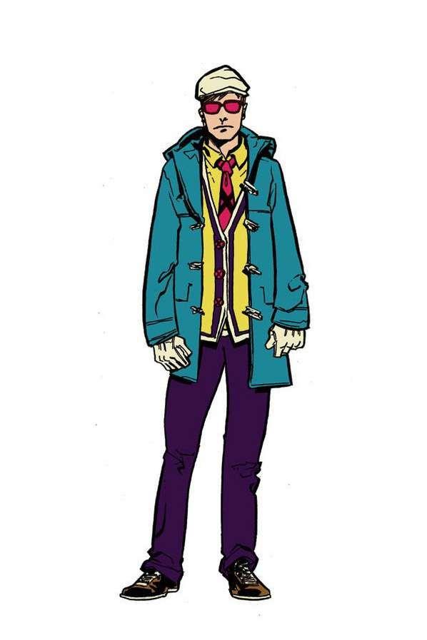 Chic Comic Fashion Illustrations -  Andy MacDonald Depicts X-Men Cast as Runway-Ready Models #artdesign #fashion