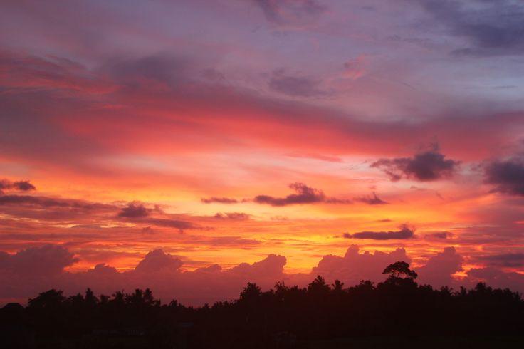 Sunset @Medewisurfhomestay west Bali surf bungalow accommodation