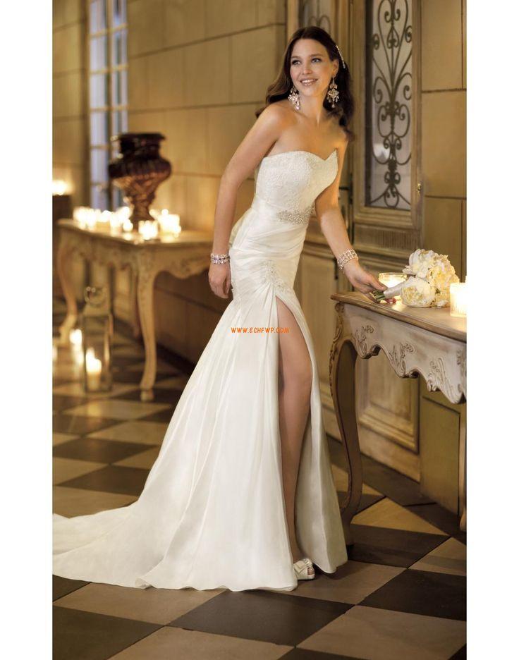 2014 tavasz Taft Természetes Tervező Menyasszonyi ruhák