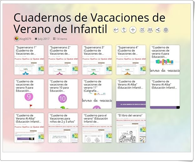 """""""Cuadernos de Vacaciones de Verano de Infantil"""" (Colección)"""