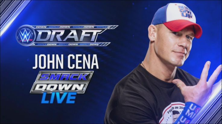 WWE Draft pick #7. John Cena is drafted to SmackDown Live.                                                                                                                                                     More