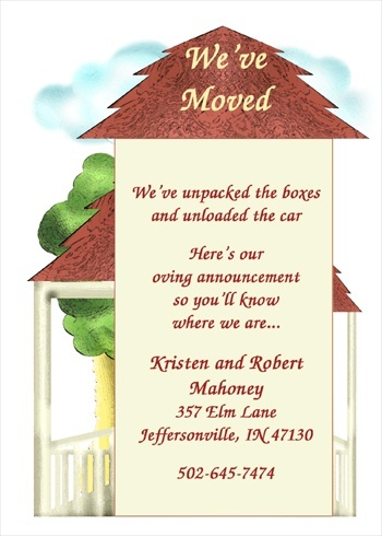 We've Moved Cards for Introducing Your New Home to Family ...