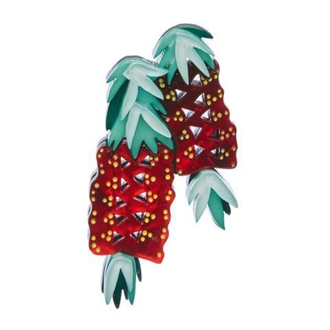 Crimson Callistemon Brooch