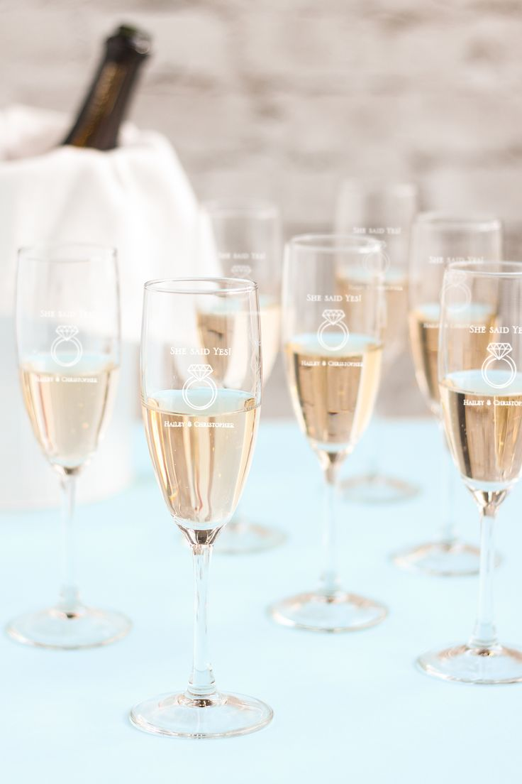 Make it a party with personalized champagne flute favors!