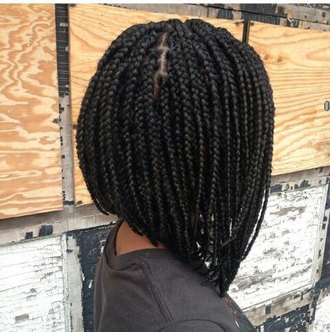 short box braids, bob hair, black girl, bob braids, black womens inspiration