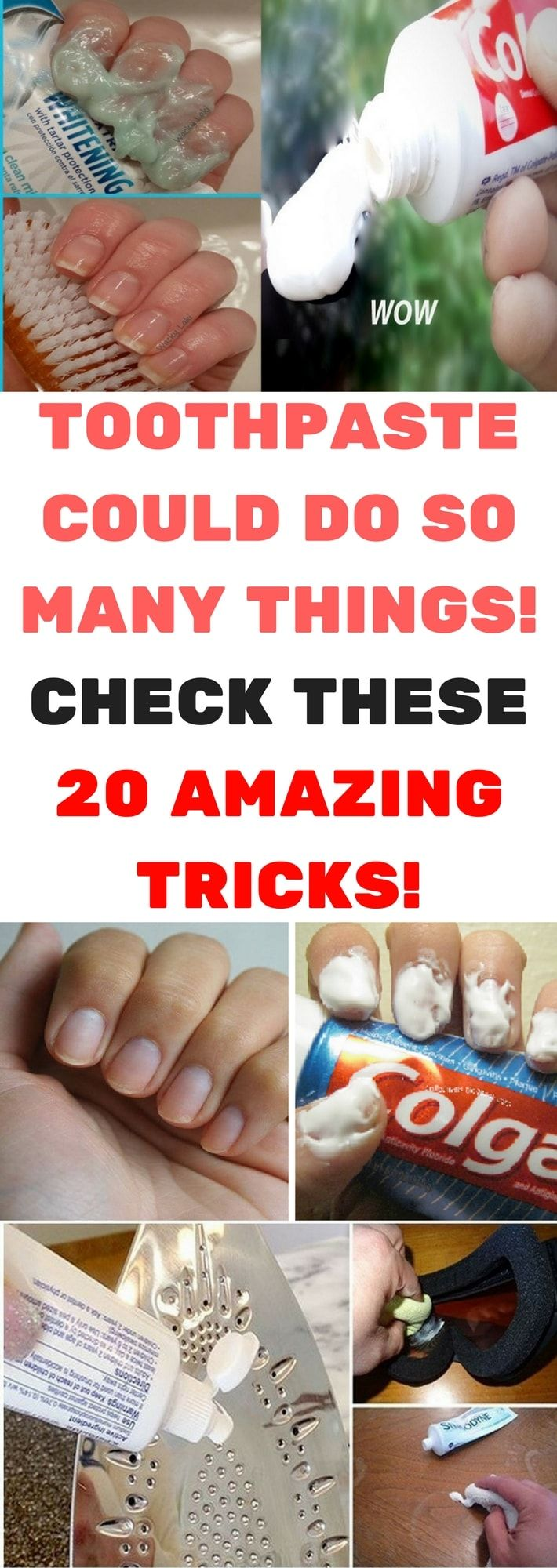 I NEVER IMAGINED THAT TOOTHPASTE COULD DO SO MANY THINGS. CHECK THESE 20 AMAZING TRICKS!!!!