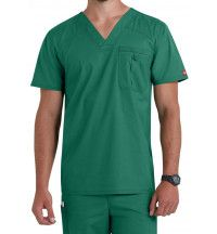 81714 Dickies Mens Scrub Top with Certainty Antimicrobial Protection