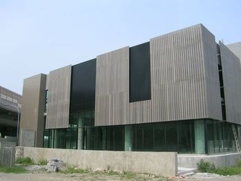 Wood Plastic Composite Exterior Cladding Panel View Architectural Sun Shading Lesco Product