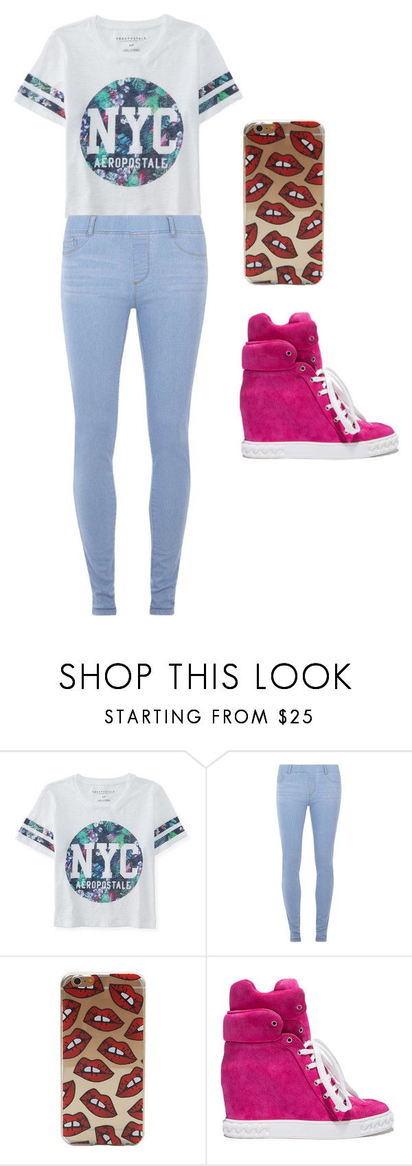 """look de secundaria 3.0"" by agosgalian on Polyvore featuring moda, Aéropostale, Dorothy Perkins, Casadei, women's clothing, women, female, woman, misses y juniors"