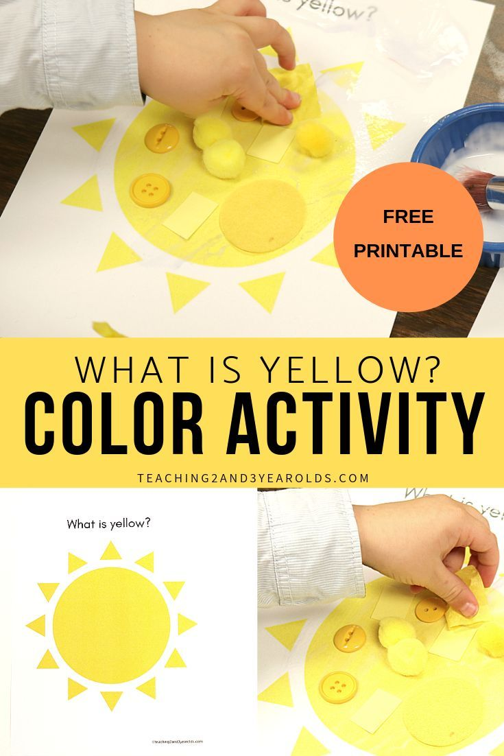 Learning The Color Yellow Preschool Color Activities Color