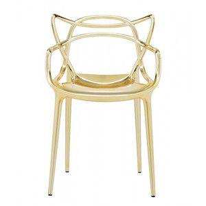 Złote krzesło Kartell Masters