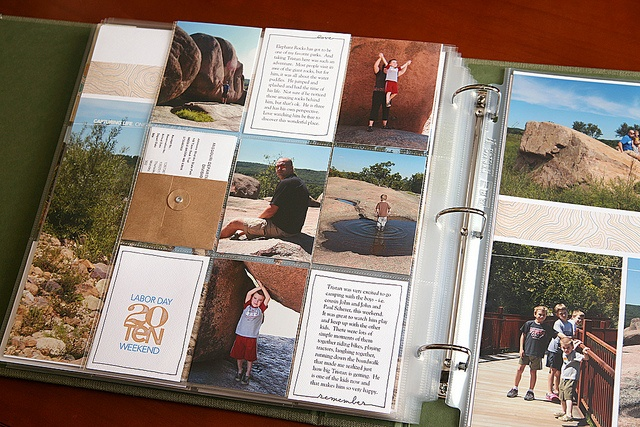 Incorporate LOTS of photos into the spread - LOVE this!: Photo