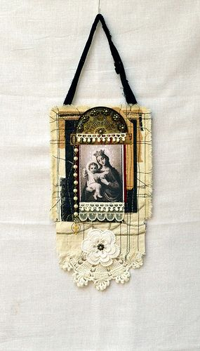 art quilt--this one is not a necklace, but I think the concept could go there!