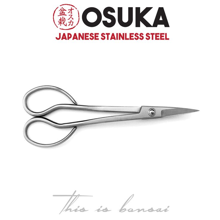 • OSUKA Bonsai Trimming Scissors (Bonsai Shears) • Length – 180mm • Finish – Silver • Material – High Quality Japanese Stainless Steel