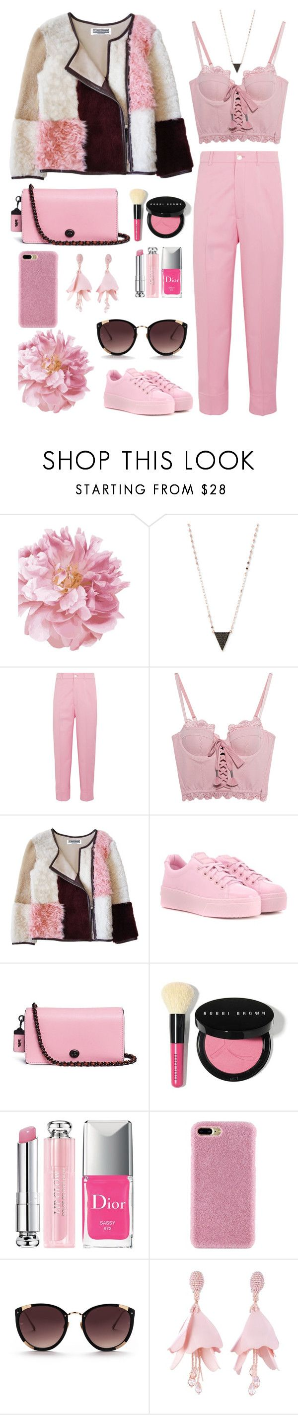"""""""All About Pink!"""" by orrinn ❤ liked on Polyvore featuring Lana, Gucci, Puma, Florence Bridge, Kenzo, Coach, Bobbi Brown Cosmetics, Christian Dior, Shibaful and Rebecca Taylor"""
