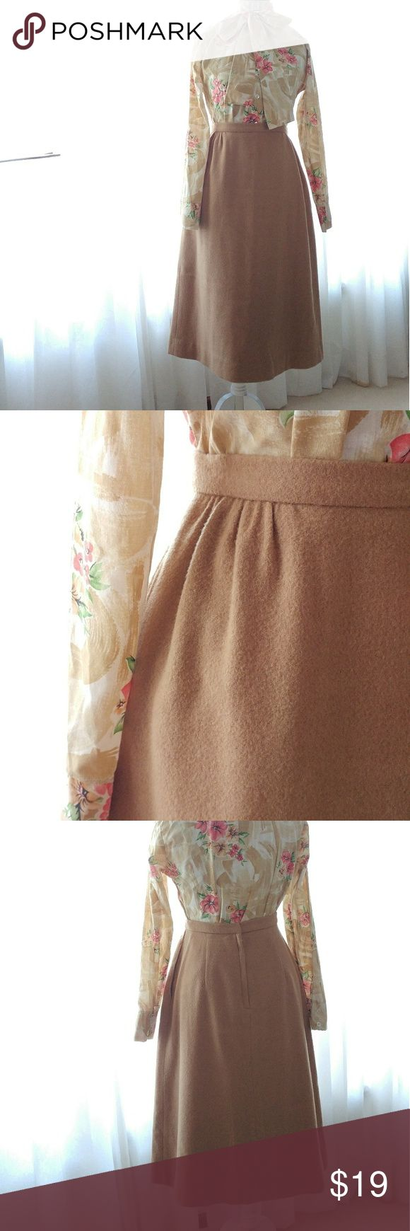 60's Tan Wool Skirt (Pockets)- Size 8-10 60's Tan Wool Skirt (Pockets)- Size 8-10  W- 29 H- 38 L- 29  Brand - Stanley Blacker  It says a size 12- more like an 8 or 10.  Item is in perfect condition. Lining and wool no holes or stains.  #wool #woolskirt #tanskirt #pockets #skirtwithpockets #size10 #size8 #medium #sizeM Skirts A-Line or Full