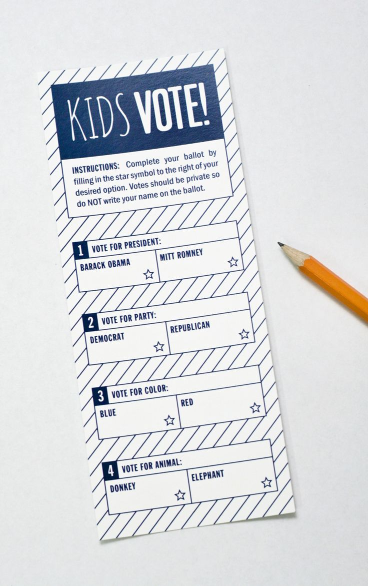 Fun idea for the kids. A kids Voting Ballot for Presidential Election 2012 PagingSupermom.com #election #vote #gomitt