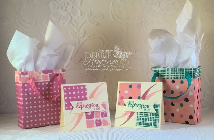 Create a GiIft Bag using Stampin' Up! 6 x 6 Designer Paper Stack
