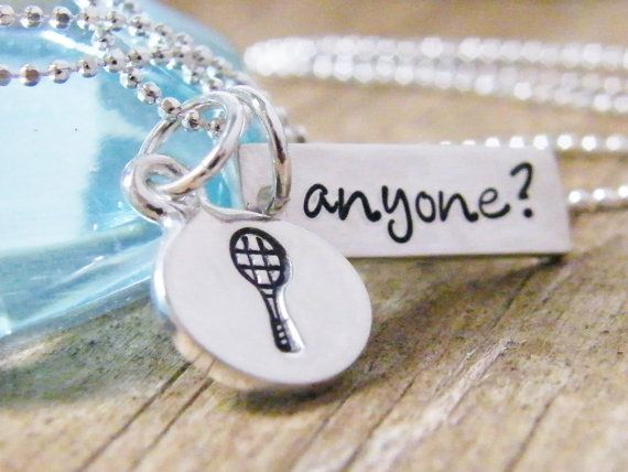 Hey, I found this really awesome Etsy listing at https://www.etsy.com/listing/82181547/tennis-anyone-necklace-handstamped