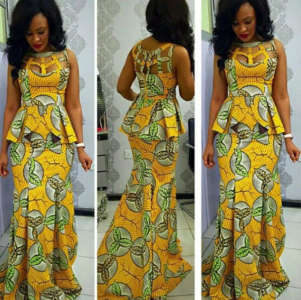 I love this!! It's so elegant. Ankara styles