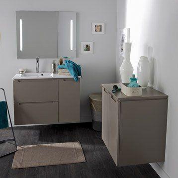meuble de salle de bains no brun taupe - Salle De Bain Taupe