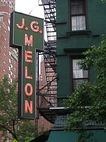 "Recommend by Rob Macdonald. Best burger in NYC. Located on the corner of 74th and Third, JG Melon opened in 1972 and has been an Upper East Side staple ever since. ""Best bloody bull and burgers in town,"" ..."
