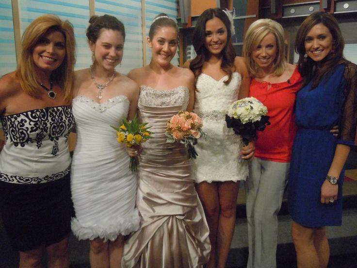 Arizona Wedding Planner Kim Horn Live When Interviewed In Studio Of Fox 10 With Andrea Robinson On Gown Trends DemetriosBride